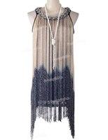 PrettyGuide Women S Metallic Chain Neck Swing Ombre Draping Tassel Flapper 1920S Gatsby Costume Party Dress