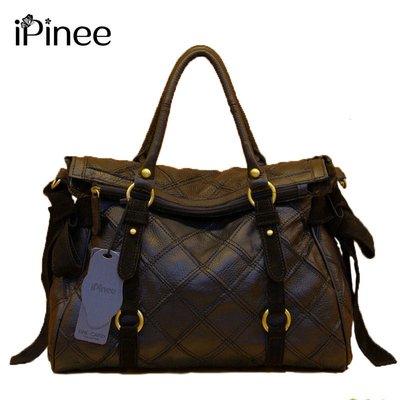 iPinee The First Layer Cowhide Women Bags Classic Design Women Handbags Genuine Leather Luxury Brand Free Shipping