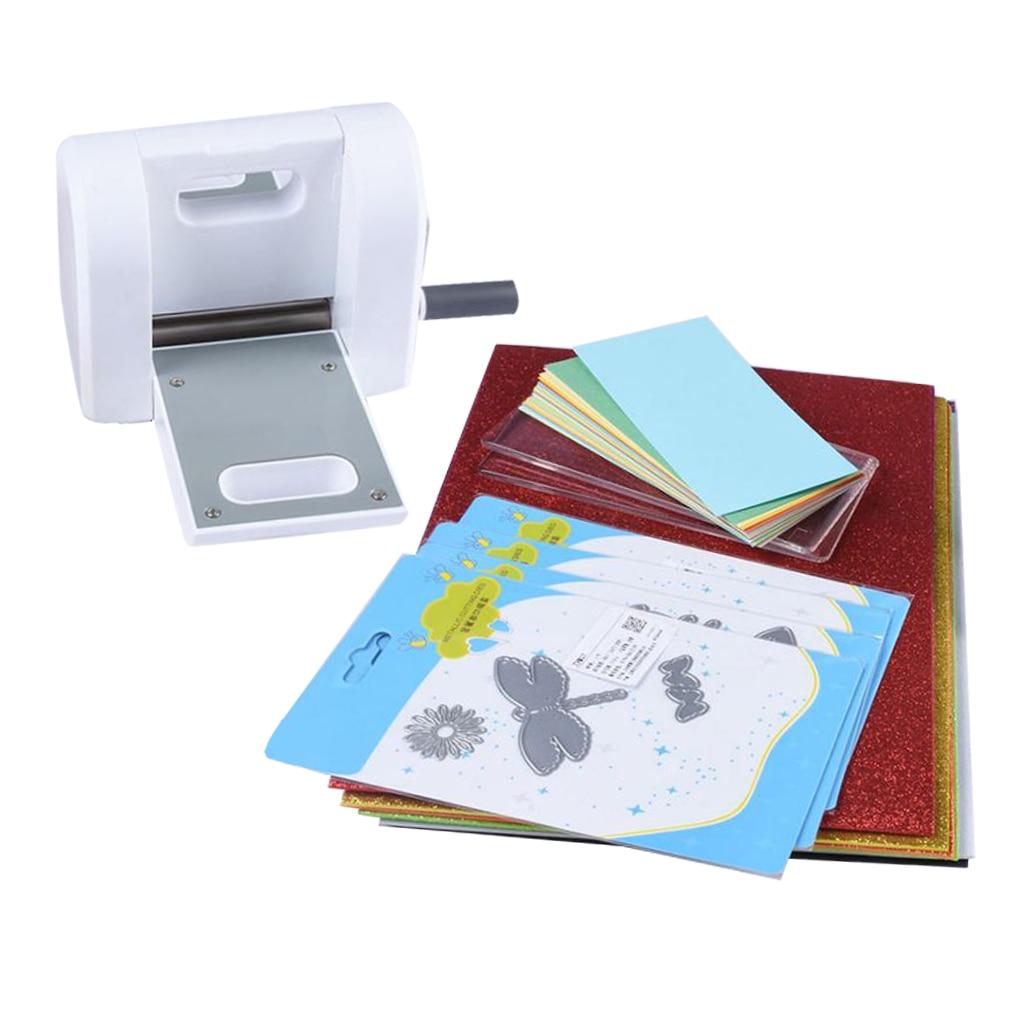 DIY Die Cutting Machine Home Embossing Scrapbooking Cutter Piece Die-Cut Paper Cutter Tools With Cutting Dies Card & EVA Sheet