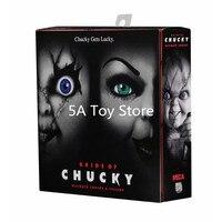 NECA Bride Of Chucky Ultimate Chucky & Tiffany Chucky Gets Lucky PVC Action Figure Collectible Model Horror Toy