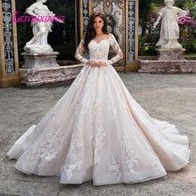 LEIYINXIANG Hochzeit Kleid Vestido De Noiva Sereia Robe Sexy Ballkleid Backless Luxus Braut Kleid Elegante Appliques Schatz