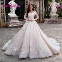 LEIYINXIANG suknia ślubna Vestido De Noiva Sereia szata seksowna suknia balowa Backless luksusowe suknia dla panny młodej eleganckie aplikacje Sweetheart