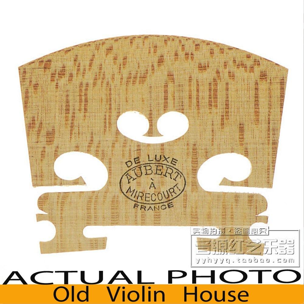 Genuine Aubert   De Luxe  Violin Bridge for 4/4 violin , Made in France. master violin identity copy guarneri del gesuthe cannon1743 strong and deep tone free shipping aubert bridge no 3