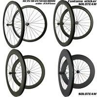 탄소 바퀴 30mm 35mm 38mm 45mm 50mm 55mm 60mm 88mm 탄소 자전거 바퀴 와이드 23/25mm 700c 도로 자전거 탄소 wheelset