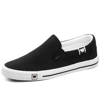 merkmak 2019 Summer Comfortable Canvas Sneakers Men Shoes Loafers Moccasins Fashion Slip-On Male Footwear Casual Driving Flats 1