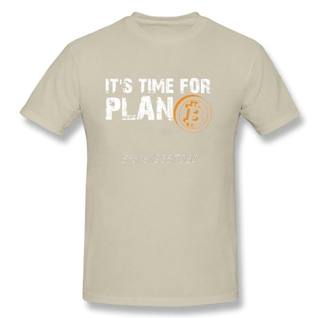Time For Plan Bitcoin BTC Crypto Currency T Shirt Short Sleeve Custom T-shirts Pp Camiseta Cotton Crewneck Big Size 3