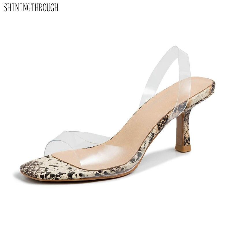 women sandals transparent super high heels sexy ladies slip on women wedding party dress shoes black