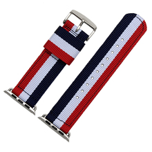 Quality Nylon Watch band 22mm 24mm For iwatch 38mm 42mm Nato Strap With Adapter