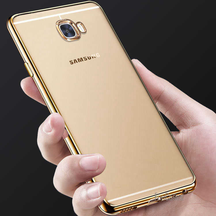 For Samsung Galaxy A5 2017 Case Clear Transparent Gold Plating ...