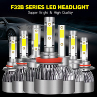 2PCS F32B H4 H7 LED 4300K 5000K 6000K H1 H3 H8 H9 H11 9005 HB3 9006 HB4 D2 Car Headlight 30W 3200LM Auto Fog Light 12V