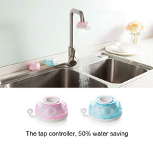 Adjustable Kitchen Splash Shower Faucet Sprinkler Head Nozzle Bathroom Tap Water Saving Device Faucet Regulator Pink/ Blue