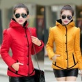 Fashion light winter warm down jacket Zipper coat hooded Collar slim Outwear Warm Woman Coat jacket warm coat cold snow coat
