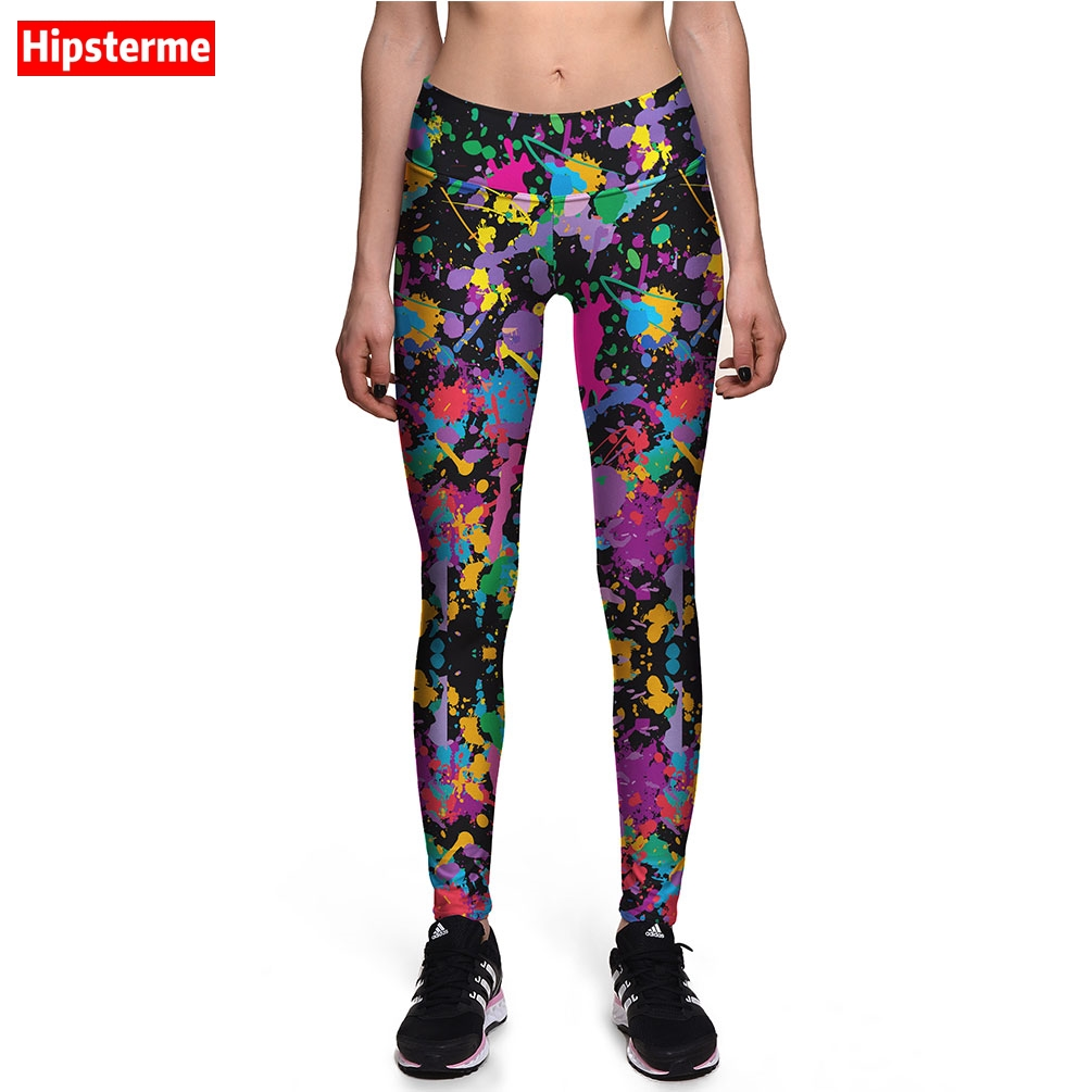 Hipsterme Jeggings Fitness Colorful Pigment 3D Printed Work Out Leggings  High Waist Push Up Pants For - Online Get Cheap Colored Jeggings -Aliexpress.com Alibaba Group