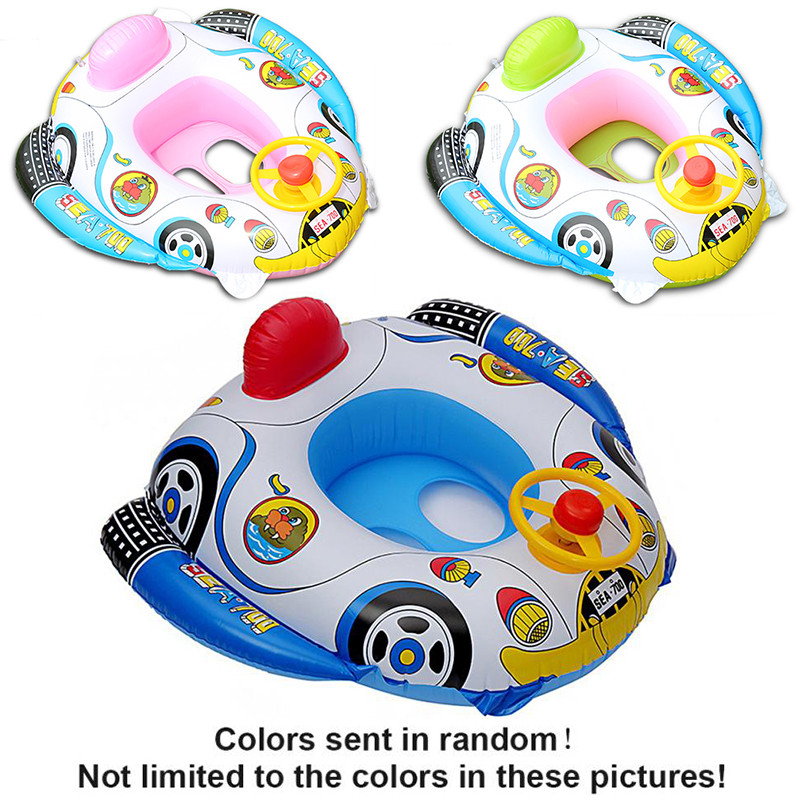 Funny Shape Inflatable Pool float Baby Swimming Ring Baby Float Seat For Pool Float For Swimming Pool Baby Swimming Color Random