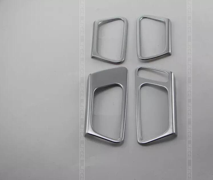 Shop2415077 Store for 2016 KIA K5 Optima ABS Chromium interior inner door handle cup bowl frame moulding trim fitting 4pcs