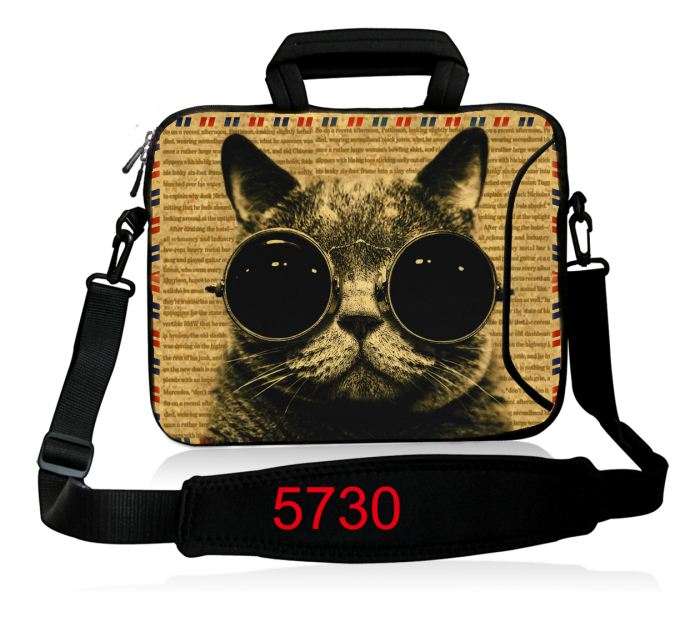 Cool Cat Laptop Bag 13 13.3 14 15 15.6 inch Soft Shoulder bag Handlebag Laptop Bags Case for women MacBook Pro Air Notebook