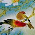 Весна Шелковый Шарф Многоцветный Женщины Шелковицы Цифровой Струйный Небольшой Шарф Милые Девушки Креп-Сатин Шелковый Шарф 55*55 см