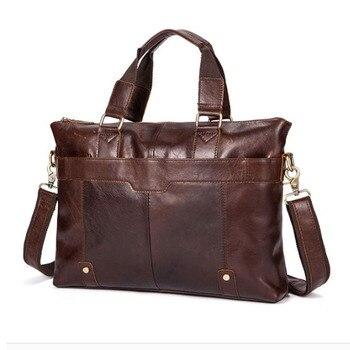 Men Handbag Genuine Leather Business Shoulder Bag Fashion Briefcase Travel  Messenger Bags Tote Handbags