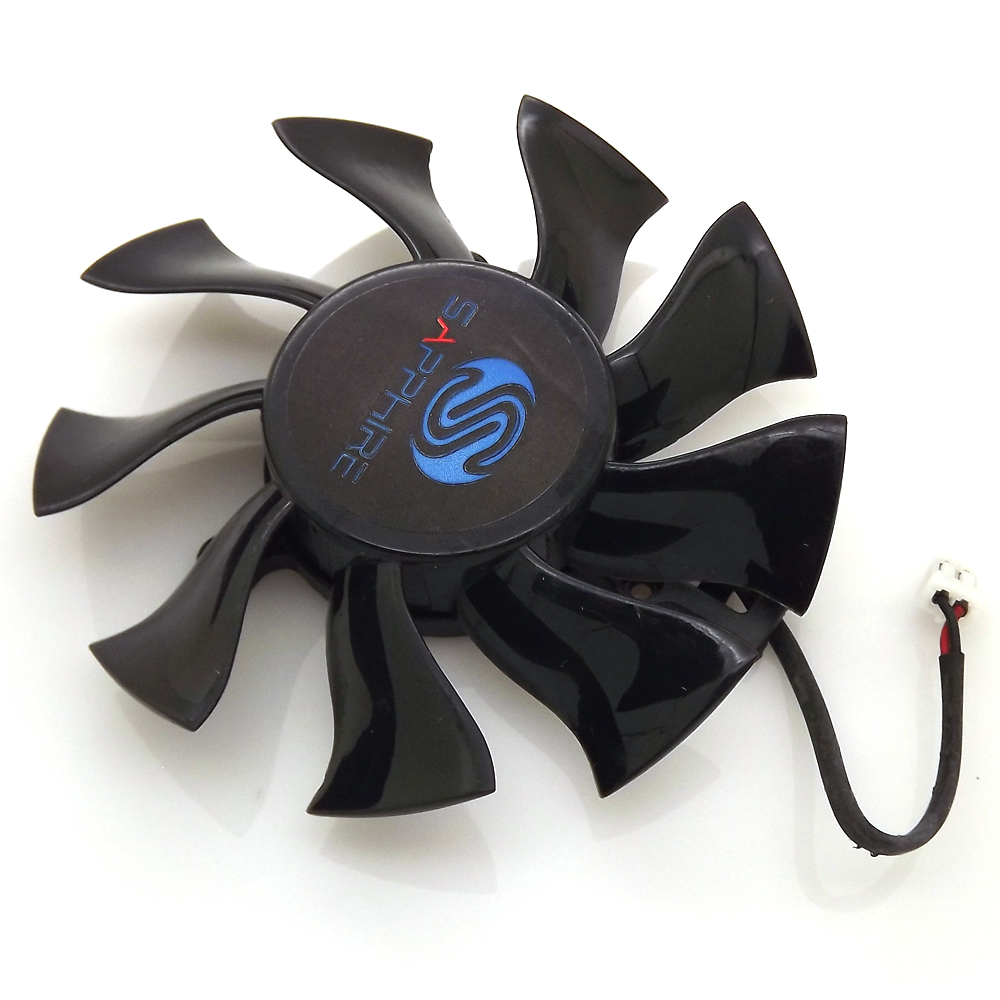 2pin 75mm FD8015H12S Graphics Card VGA Cooler Fan For Sapphire HD5770 HD5870 HD6770 HD6790 Video Card Cooling As Replacement