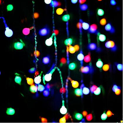 Mooi 2x1 M Led Katoen Bal Gordijn Lights Garland Mooie Decoratie Led Cristmas Lichtslingers Voor Bruiloft Vakantie Cortina De