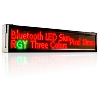 41 X 9.5 inches Outdoor wifi remote control Led Display Tri color Text Signboard Moving Message Panel