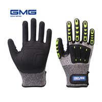 Перчатки с защитой от ударов, вибрация, масло GMG TPR, безопасные рабочие перчатки, анти-ударная амортизирующая механика, ударопрочность