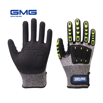 Cut Resistant Gloves Anti Impact Vibration Oil GMG TPR Safety Work Gloves Anti Cut Shock Absorbing Mechanics Impact Resistant