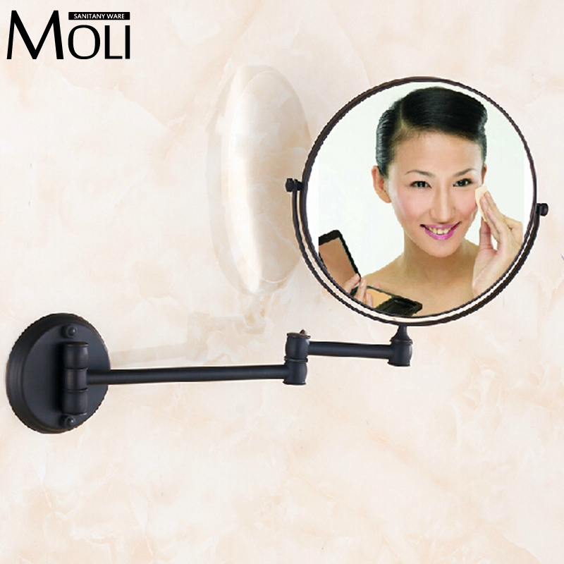 Aliexpress Buy High Quality 8 Bathroom Mirror Copper Oil Rubbed Bronze Retractable Wall Mounted Bath Makeup From Reliable Wireless