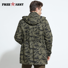 2016 Autumn Winter Jacket Coat Men's Trench Coat Military Fashion Coat Men Army Hooded Jacket Camouflage Male Jackets And Coats