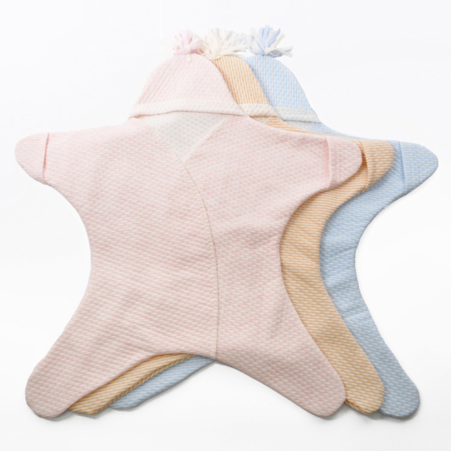 Pentagon starfish shape baby sleeping bags high-quality cotton autumn baby warm sleeping bag fiber child infant sleeping set