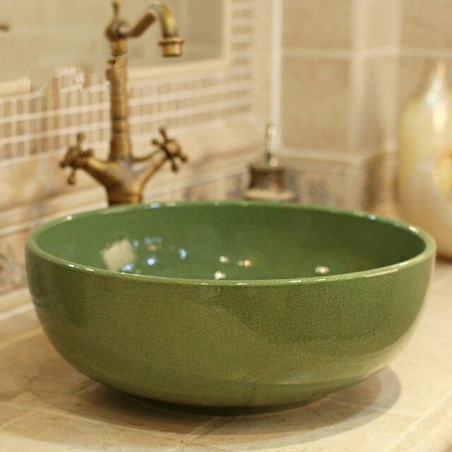 runde bade lavabo keramik arbeitsplatte waschbecken garderobe