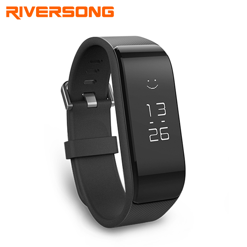 RIVERSONG Wave Fit Fitness Tracker Wristband Heart Rate Monitor Waterproof Smart Band With Pedometer Bracelet sport