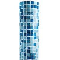 כחול פסיפס טפט הדביק PVC ויניל מדבקות מדבקה למטבח חדר רחצה עמיד למים נייר מגע