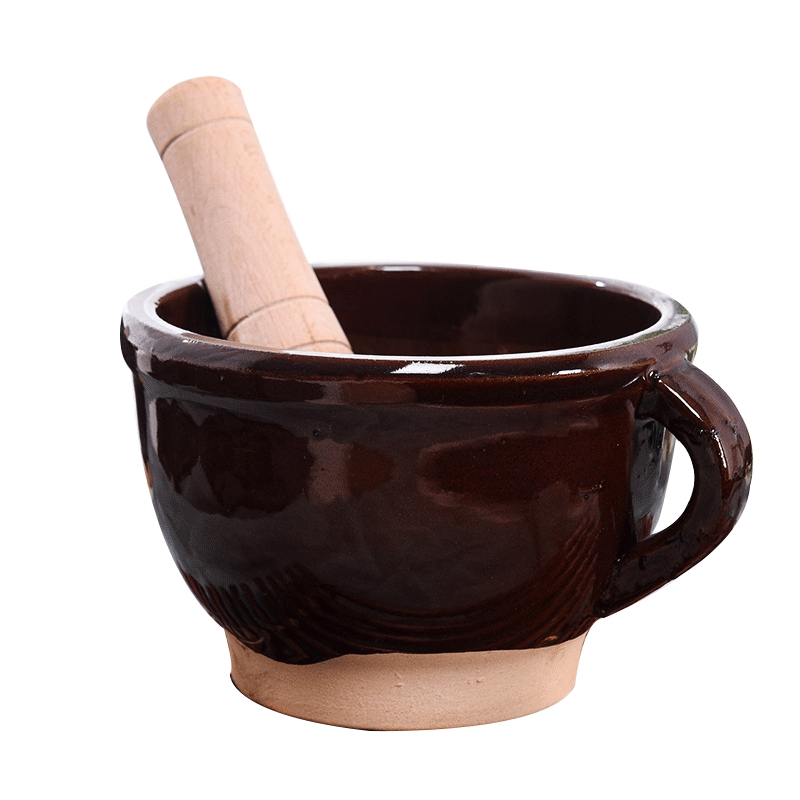 Other Kitchen Tools & Gadgets Responsible 700ml Retro Ceramic Mortar Pestle Set Household Garlic Masher Kitchen Spice Pepper Ginder Pugging Pot Herbs Mill Lustrous