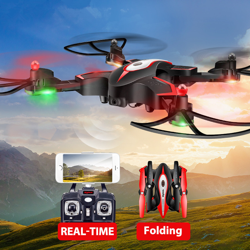 wifi fpv rc drone x56w 2.4GHz 6-Axis Gyro Real-time Transmission Altitude Hold Foldable Pocket Drone Elfie Quadcopter toy gift jjrc h37 elfie wifi fpv drone with 2 0mp camera foldable g sensor mini rc selfie rc quadcopter 6 axis gyro valentine s day