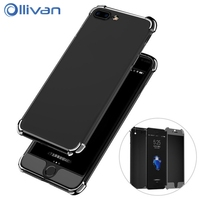 OLLIVAN Luxury Plating 2 In 1 Hybrid Cover Case For Iphone 6 6S Plus 360 Degree