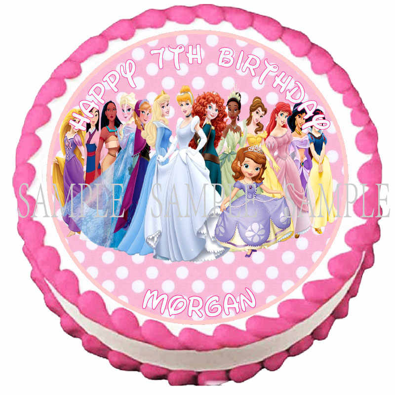 Excellent Princess Edible Cake Topper Wafer Rice Paper For Cake Cupcake Funny Birthday Cards Online Alyptdamsfinfo