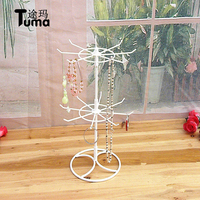 Wholesale Small Hook Hanging Rack Lipstick Necklace Display Small Objects Rotating Earrings Jewelry Display Jewel Shelf