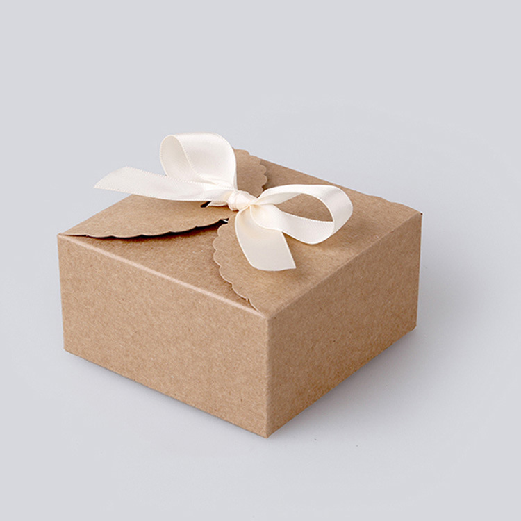 50pcs 12 12 6cm Brown Packaging Kraft Paper Box For Candy Cake