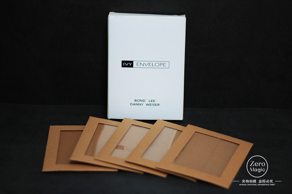 IVY ENVELOPE (Gimmicks And Online Instructions) By Danny Weiser,Bond Lee Close Up Magic Tricks Illusion Mentalism Street Classic