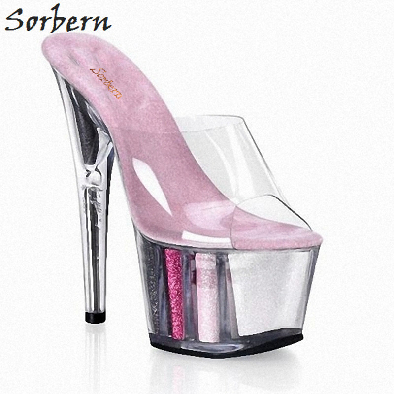 2a4a6b5738 Sorbern Multi Color Glitter Women Slippers Custom Colors Clear Platform  Shoes Ladies Open Toe Outdoor Slides
