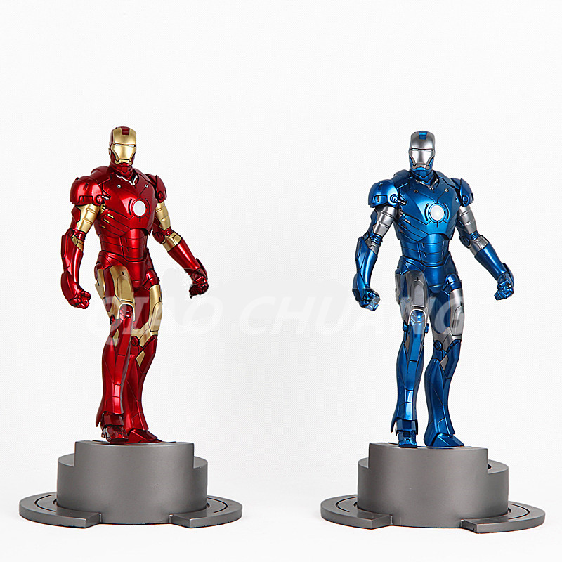 Superhero Statue Avengers Iron Man Bust 1:6 MK43 Tony Stark Full-Length Portrait Mark 3 Generations Resin Model Toy W26 statue avengers captain america 3 civil war iron man tony stark 1 2 bust mk33 half length photo or portrait with led light w216
