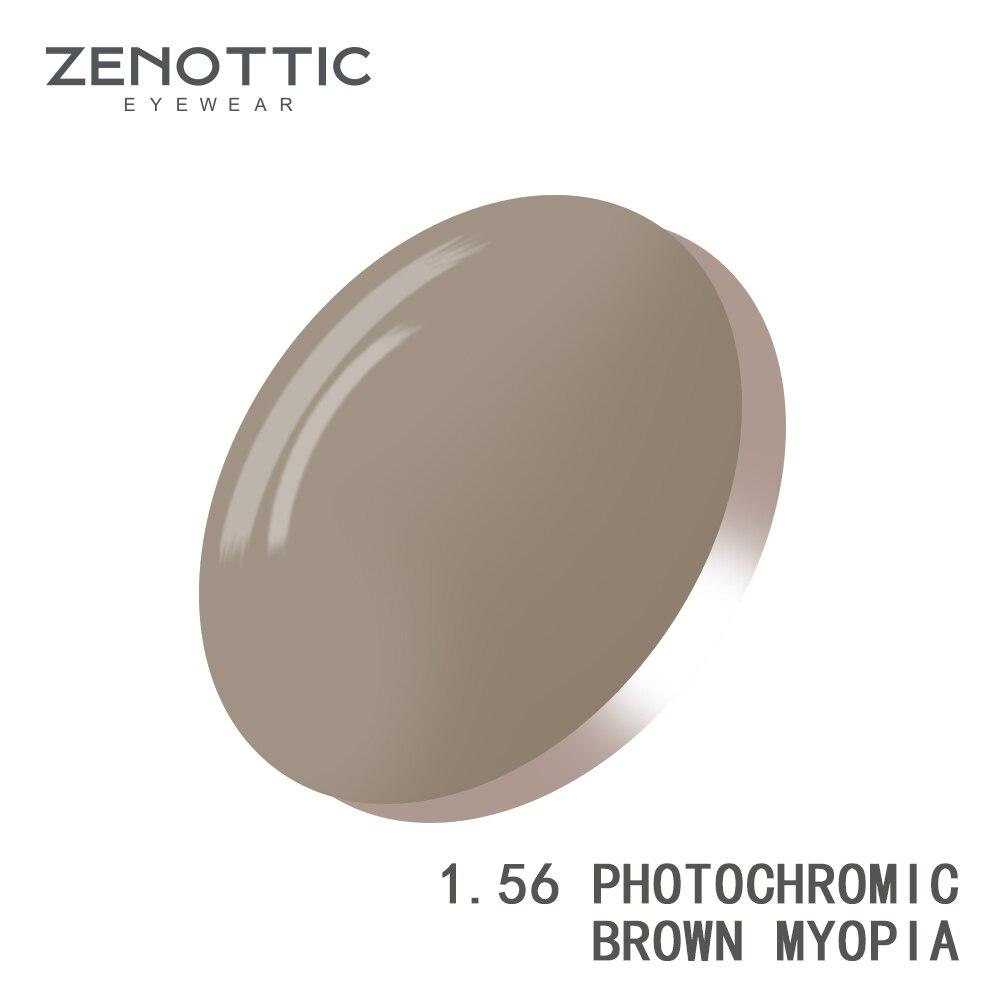 Lentilles photochromiques de Prescription zenottique 1.56 1.61 1.67 (+ 12.00 ~-12.00) lentilles photochromiques de myopie d'hyperopie