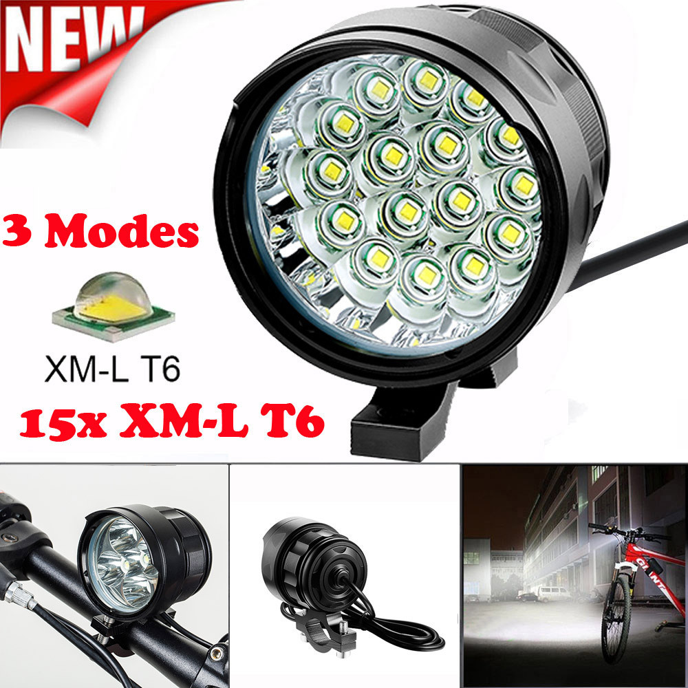 <font><b>Bike</b></font> <font><b>light</b></font> 16x T6 LED 3 Modes rechargeable waterproof <font><b>Bicycle</b></font> <font><b>Lamp</b></font> <font><b>Bike</b></font> <font><b>Light</b></font> <font><b>Headlight</b></font> <font><b>Cycling</b></font> <font><b>Torch</b></font> luz de bicicleta A1 image