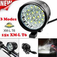 Luz de bicicleta 16x T6 LED 3 modos recargable impermeable lámpara de bicicleta luz de bicicleta linterna de ciclismo luz de bicicleta A1