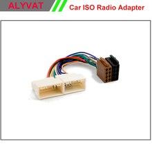 Sale Car ISO Stereo Adapter Connector For Hyundai iX-35 Solaris i-25 Verna Accent Kia Sportage Rio Wiring Harness Auto Plug Wire