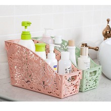 Kitchen Storage Collect Box Basket Refrigerator Fruit Fashion Carved Hollow Cosmetics Organiser