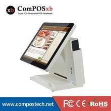 retail restaurant pos all in one PC 15 inch casher register machine touch screen pos system with Windows, MSR, display