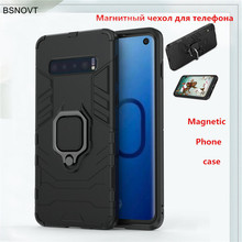 For Samsung Galaxy S10 Case Magnetic Armor Finger Ring Anti-knock Phone Cover