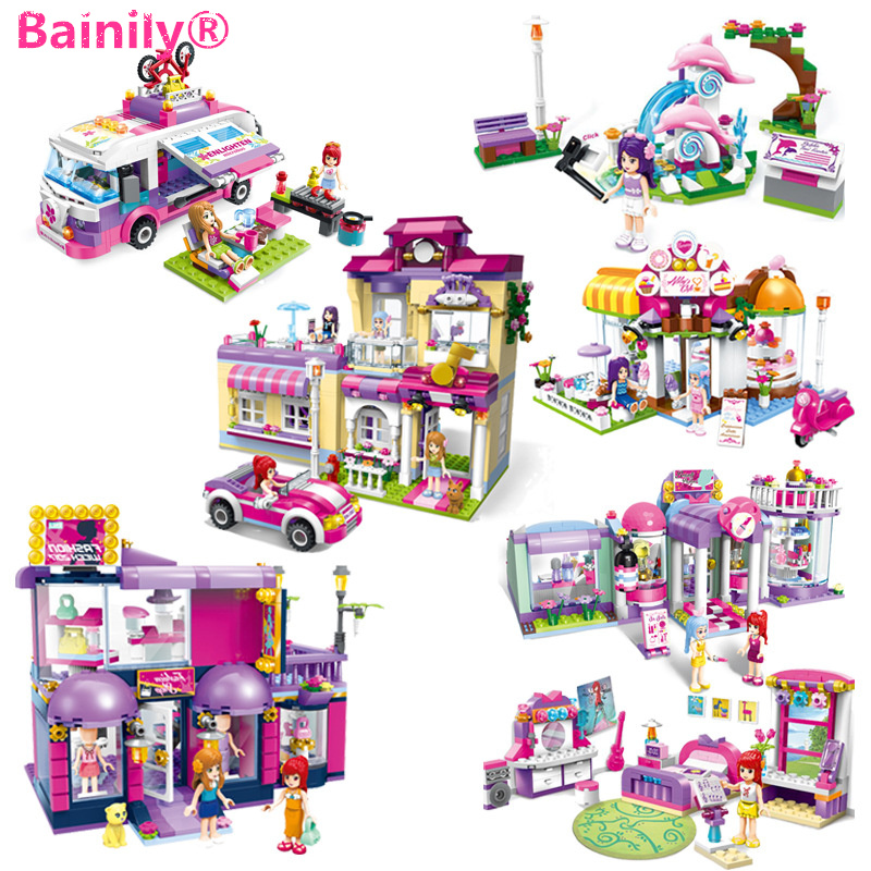 [Bainily]Shirley Princess House City Friends Series Model Building Blocks For Girl's Gift Toy Compatible With LegoINGlys Friends 2017 hot sale girls city dream house building brick blocks sets gift toys for children compatible with lepine friends